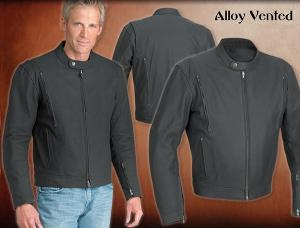 river road, alloy, vented, leather, mens, jacket