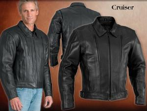 river road, cruiser, jacket, mens, leather